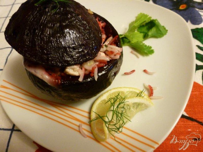 Фото приготовление рецепта: Свекла,фаршированная курицей с рисом и яблоком шаг №3