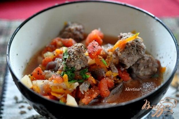 фото рецепта: Суп с фрикадельками из говядины