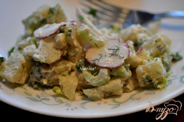 Рецепт Картофельный салат с редисом