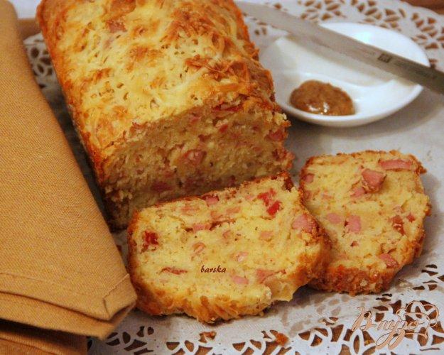 Рецепт Закусочный кекс с ветчиной, горчицей и сыром
