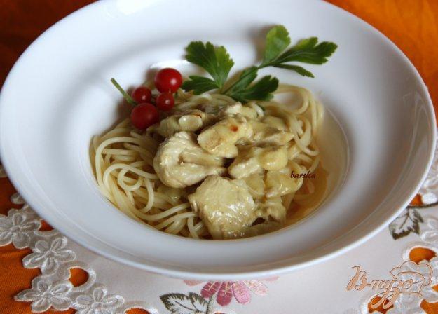 Рецепт Филе индейки в сливочно-горчичном соусе