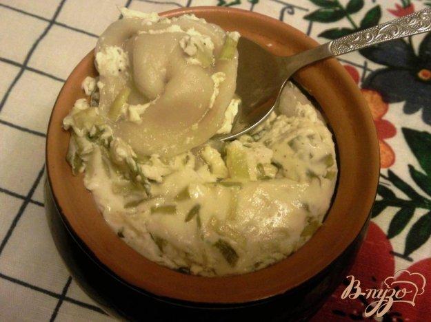 Рецепт Пельмени в горшочках со сметаной