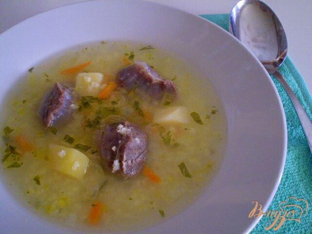 Фото приготовление рецепта: Суп с желудками шаг №7