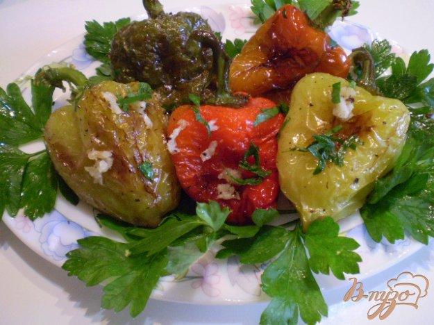 Рецепт Жареный болгарский перец с чесноком и зеленью