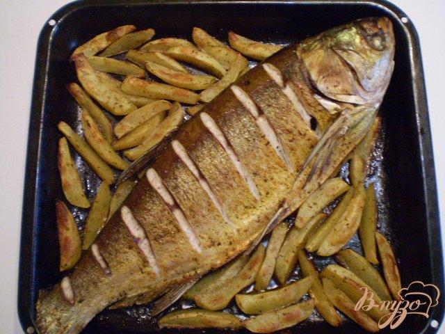 Фото приготовление рецепта: Рыба с овощами в духовке шаг №3
