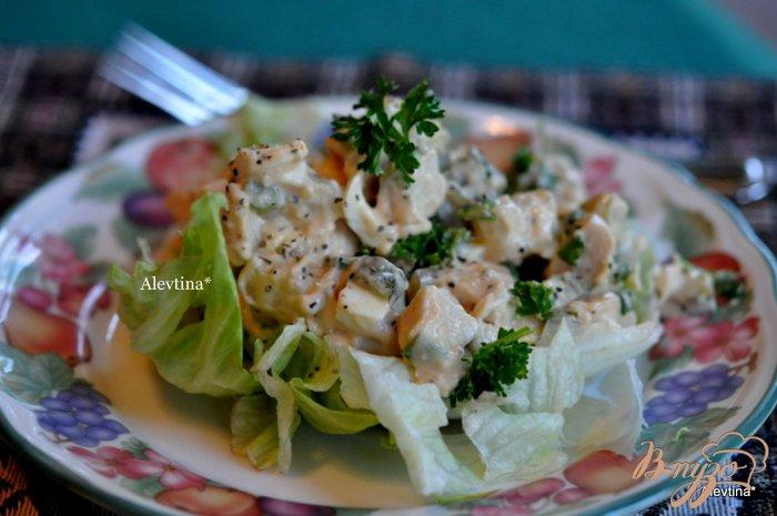 Фото приготовление рецепта: Салат из птицы шаг №4