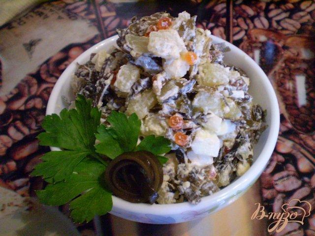 Фото приготовление рецепта: Салат с ламинарией Нептун шаг №4