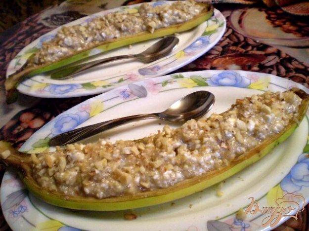 Рецепт Десерт в банановых шкурках