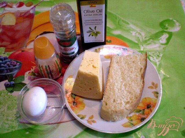 Фото приготовление рецепта: Яйцо в хлебе под сыром шаг №1