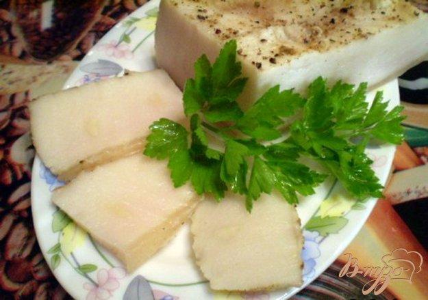 Рецепт Вареное сало с чесноком