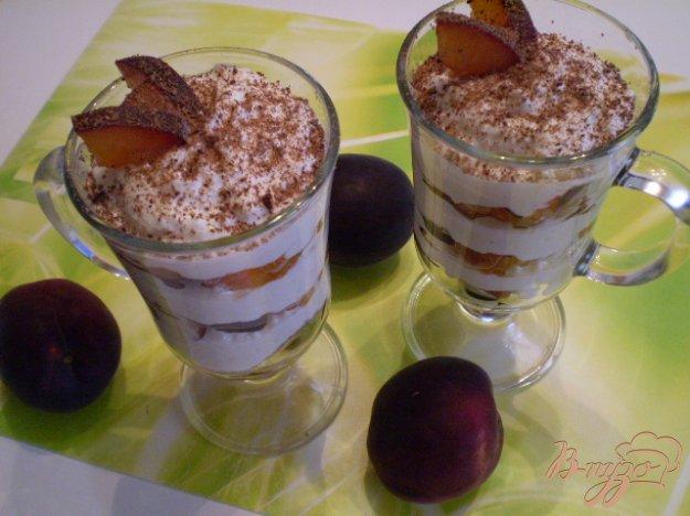 Рецепт Десерт творожный с фруктами