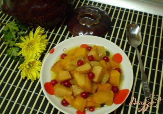 Рецепт Десерт из тыквы с фруктами