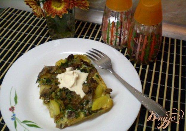Рецепт Картофель с грибами под омлетом