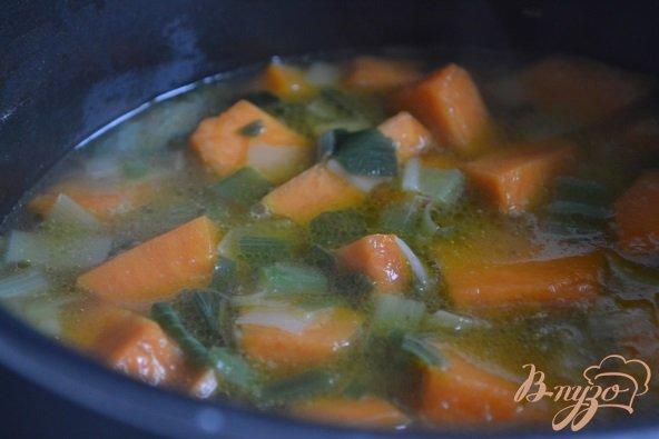 Фото приготовление рецепта: Тыквенный суп-пюре на кокосовом молоке шаг №2