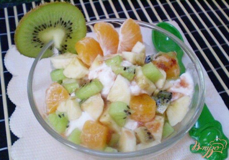 Фото приготовление рецепта: Мороженое с фруктами шаг №4