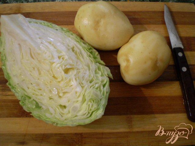 Фото приготовление рецепта: Капустняк постный с пшеном шаг №2