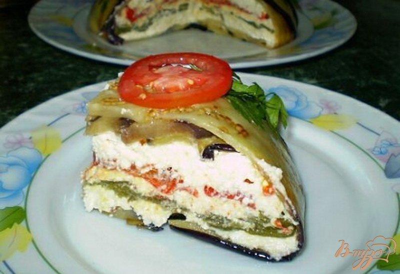 Фото приготовление рецепта: Террин из баклажанов, сладкого перца и сыра шаг №8