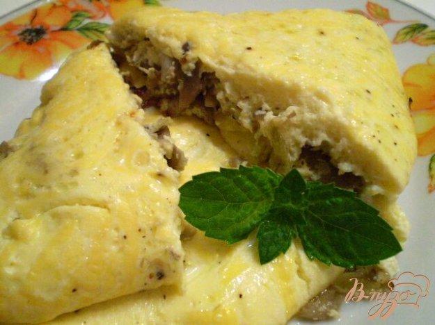 Рецепт Омлет с грибами и сыром