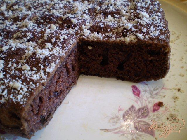 Фото приготовление рецепта: Шоколадный быстрый пирог шаг №6