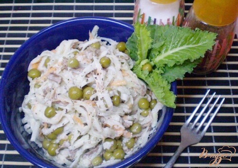 Фото приготовление рецепта: Салат из капусты брокколи и говядины. шаг №5