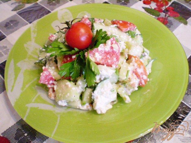 Рецепт Овощной салат с творогом и сметаной