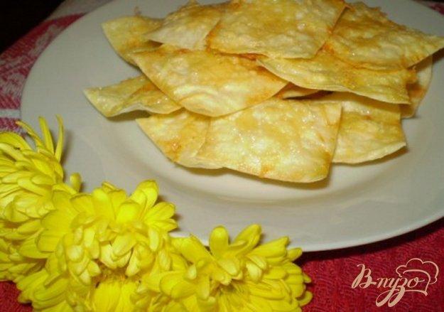 Рецепт Чипсы из лаваша со сметаной и сыром