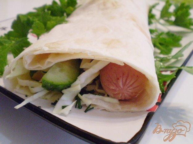 Рецепт Сосиски в лаваше