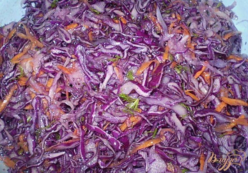Фото приготовление рецепта: Капуста с дайконом и морковью шаг №4