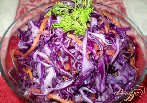 Рецепт Капуста с дайконом и морковью