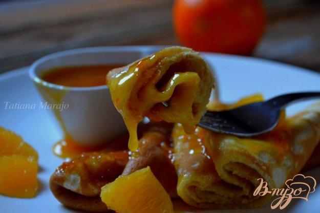 Рецепт Блины с апельсиновой карамелью