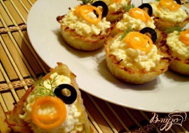 Рецепт Картофельные корзинки с сырной начинкой