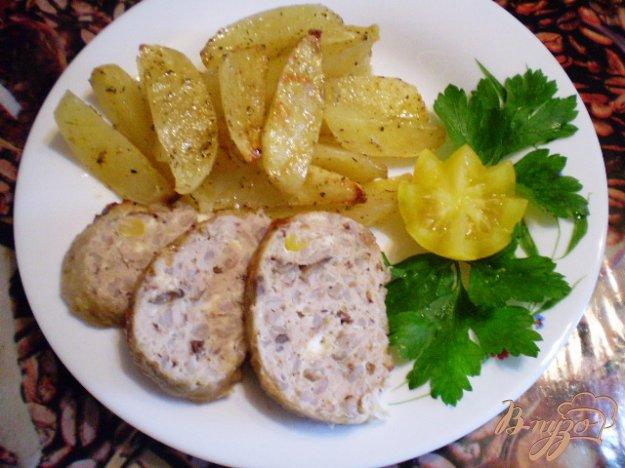 Рецепт Окорочка фаршированные гречкой, грибами и запеченый картофель