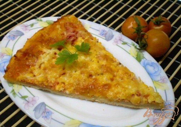 Рецепт Пицца с колбасой и двумя видами сыра