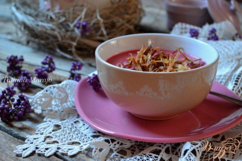 Фото приготовление рецепта: Свекольный суп-пюре шаг №6