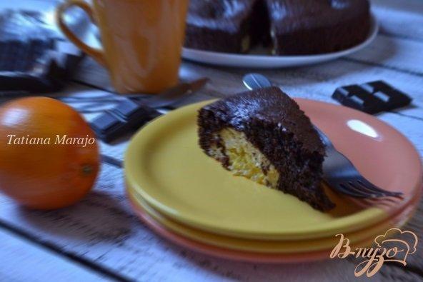 Рецепт Шоколадный пирог с творожными шариками