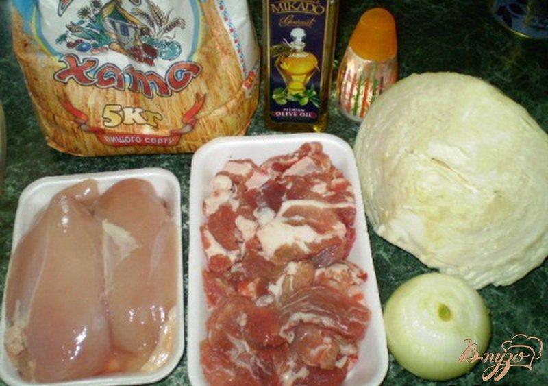 Фото приготовление рецепта: Котлеты мясные с капустой шаг №1