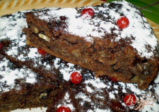 Рецепт Манник постный с яблоком и грецкими орехами