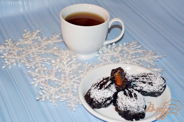 фото рецепта: Шоколадная картошка с миндалем и мармеладом