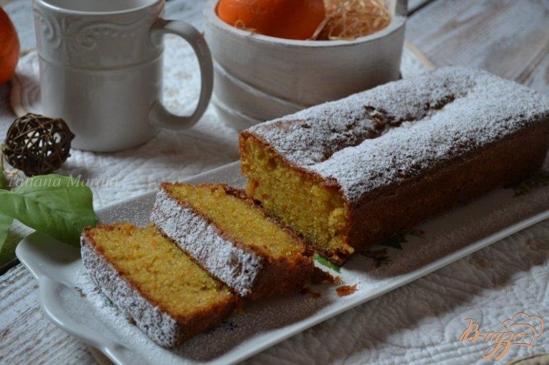 Фото приготовление рецепта: Апельсиновый кекс с  кусочками белого шоколада шаг №5