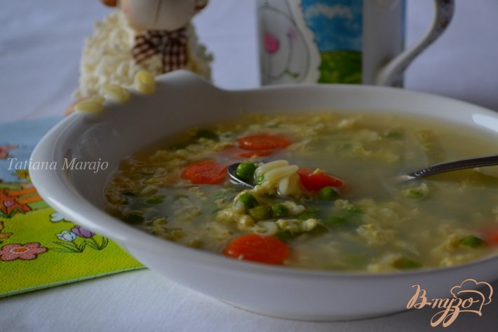 Фото приготовление рецепта: Яичный суп для детского меню шаг №6
