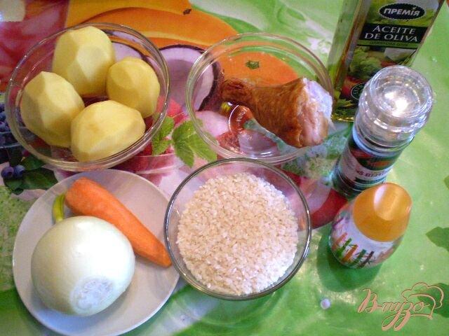 Фото приготовление рецепта: Суп рисовый с копченой курицей шаг №1