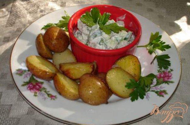 Рецепт Картофель с селедочным салатом