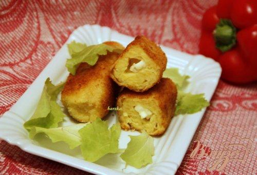 """Картофельные """"палочки"""" с брынзой"""