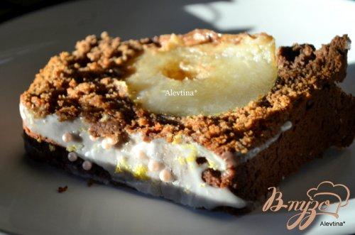 Шоколадный хлеб с грушей и корицей