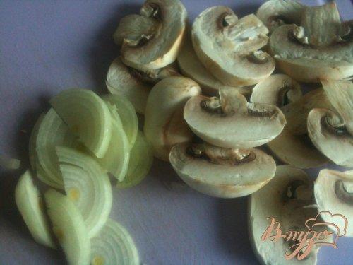 Картофельные лодочки с грибами и ветчиной