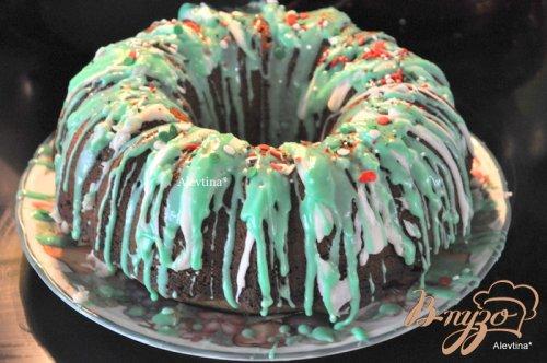 Радужный рождественский кекс