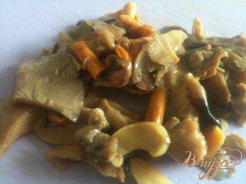 Ньокки с фаршем и грибами