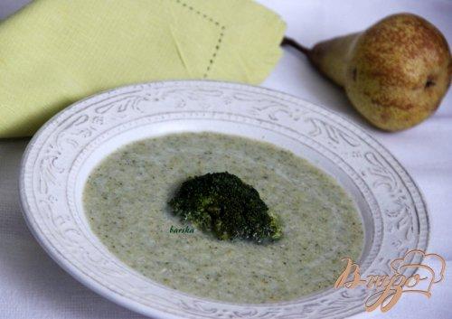 Куриный суп из брокколи, с грушей
