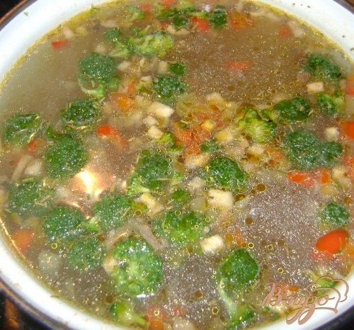 Суп с запеченными овощами