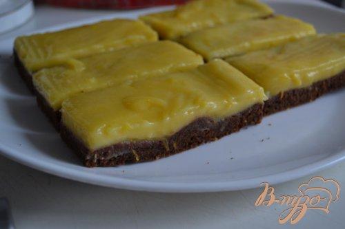Брауни с лимонным кремом